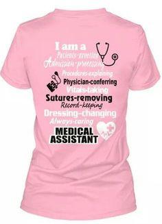 medical assistant more medical assistant shirts certified medical ...