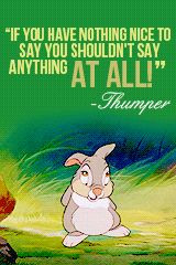 Thumper from Bambi quote More