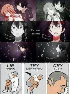 ... anim sowrd art online sad anime couples sword art online art cri