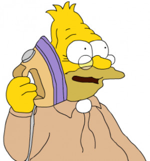 Grampa Simpson from FOX's The Simpsons Answers the Iron