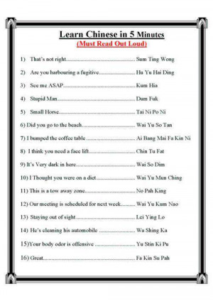 Learn Chinese fast these seem to be curse words don't - Image
