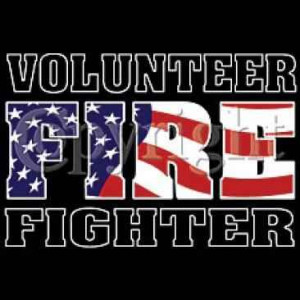 Volunteer Firefighter T-Shirt in Flag Colors