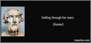 Smiling through her tears. - Homer
