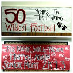 Senior Night - just a few more signs we made More
