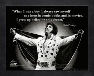Elvis Quote Framed Memorabilia