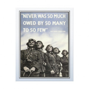 Vintage WW2 Churchill Quote Military Vets Gallery Wrap Canvas