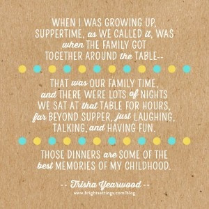 Table Talk: Trisha Yearwood quote about the importance of eating ...