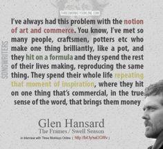 Glen Hansard on Songwriting music, frame, season, quotes, glen hansard ...