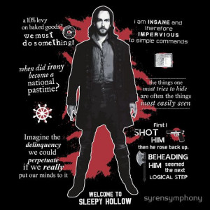 Ichabod Crane Quotes t-shirt Television, Cranes Quotes, Hollow Tv ...