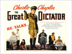Charlie Chaplin as Adenoid Hynkel in The Great Dictator (1940)