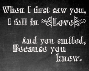 When I First Saw You I Feel in Love Quote by ElPortoCollections, $4.00