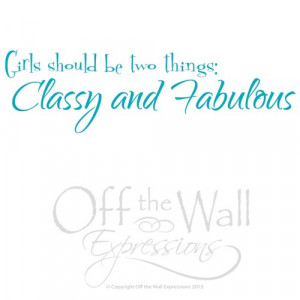 Classy and Fabulous Coco Channel quote, vinyl decal