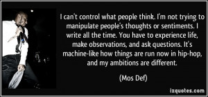 More Mos Def Quotes