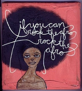 If you can rock the afro, rock the afro! #naturalhair #prideispretty
