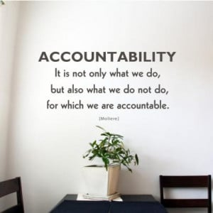 Teamwork Quotes For The Office Accountability office art