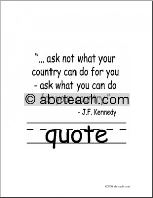 Clip Art: Basic Words: Quote B/W (poster) - preview 1