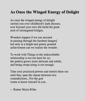 Rilke (awesome poetry speaking to the latter stages of alchemical ...