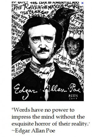 "Horror""-ible thoughts from Edgar Allen Poe for #halloween #quotes"