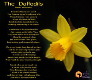 Daffodil Poem by William Wordsworth