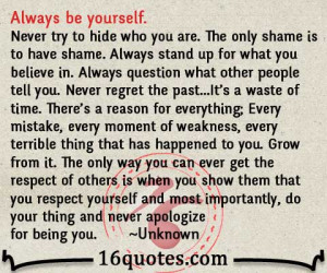 always be yourself quotes