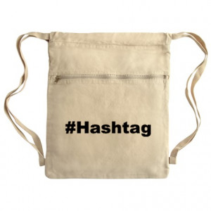 Hashtag Gifts > Hashtag Bags & Totes > Funny Hashtag Quote Cinch Sack