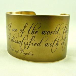 Jane Austen quote brass cuff #janeausten #jewelry #gifts