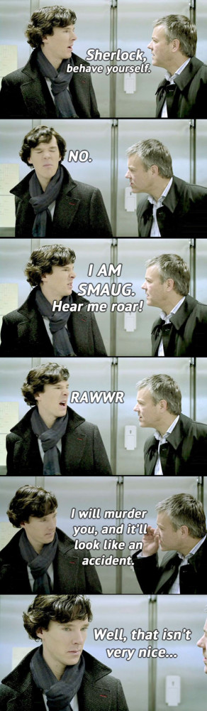 Sherlock, behave…