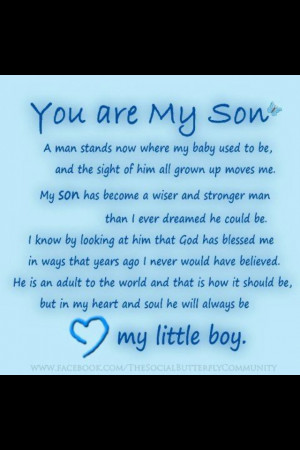 Quotes Sons, Quotes Happy Birthday Sons, 18Th Birthday Boys, My Sons ...