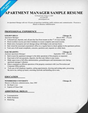 ... management resume samples vista ridge work ideas apartments management