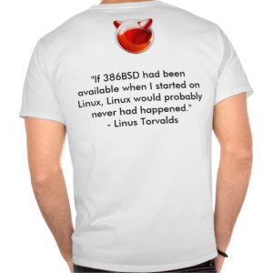 FreeBSD Linus Torvalds Quote Shirt