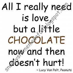 SHF A Little Chocolate Watermarked Charlie Brown Quotes About Life