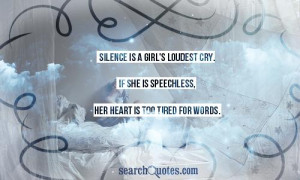 Searchquotessilence Girls Loudest Was Added June