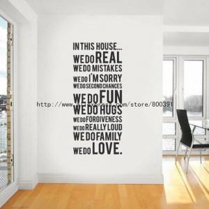 ... Wall Sticker 10pcs House rule 2 Modern Wall Sticker, Vinyl Wall Quote