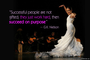 Successful people are not gifted; they just work hard, then succeed on ...