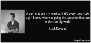 pain stabbed my heart as it did every time I saw a girl I loved who ...