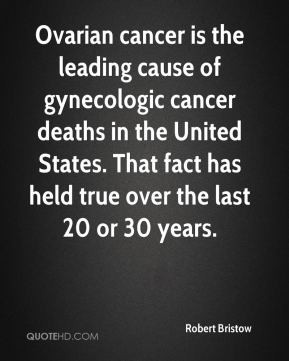 Ovarian cancer is the leading cause of gynecologic cancer deaths in ...