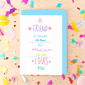 homepage > GINGER PICKLE > BEST FRIEND QUOTE GREETING CARD