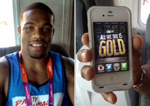 What's on Olympians' lock screens? Pinups, gold-plated passion