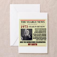 born in 1973 birthday gift Greeting Card for