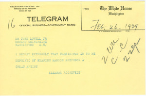 Exerpt from Eleanor Roosevelt's letter of resignation from the ...