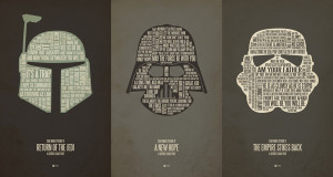 jerod gibson star wars typography font poster t-shirt iphone ipod skin ...