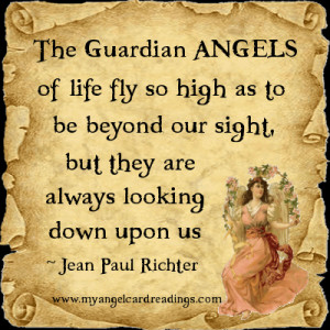 ... as to be beyond our sight, but they are always looking down upon us