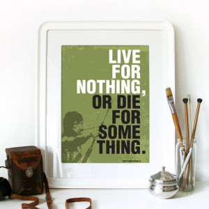 Movie RAMBO Quote Print Typography Art Poster in Army green - Live for ...