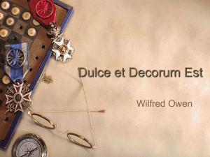 Dulce Decorum Est Powerpoint