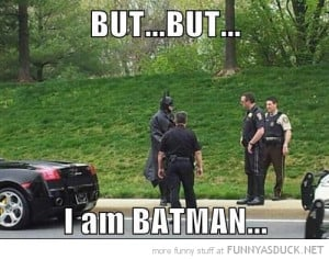 cops police pulled over man costume but i am batman movie film funny ...
