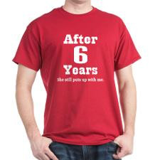 6th Anniversary Funny Quote Dark T-Shirt for