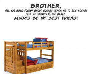 ... Child Teen Vinyl Wall Decal Mural Quotes Words Ct029brotherwillvii
