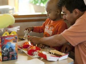 Family Eating At Mcdonalds