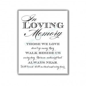 In Loving Memory Wedding Sign Memorial Table by PurplePeonyCouture, $5 ...