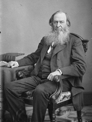 Gerrit Smith, between 1855 and 1865. Photo by Mathew Brady. Public ...